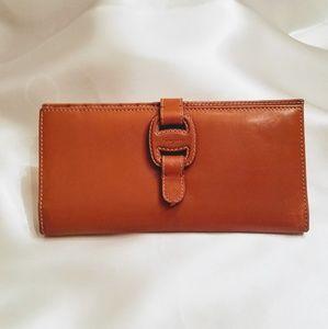 Salvatore Ferragamo Wallet Tan Leather